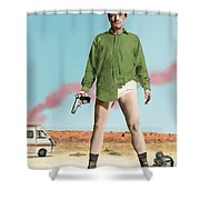 Bryan Cranston As Walter White  @ Tv Serie Breaking Bad Shower Curtain
