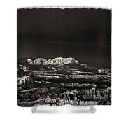 Bryce Canyon Formations In Black And White Shower Curtain