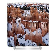 Bryce Canyon In Winter 2 Shower Curtain
