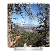 Bryce Canyon Overlook With Dead Trees Shower Curtain