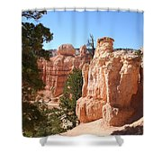 Bryce Canyon  Red Rocks Shower Curtain