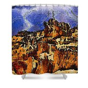 Bryce Canyon Thuderstorm Shower Curtain