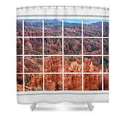 Bryce Canyon White Picture Window View Shower Curtain