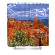 Bryce Canyon's Agua Canyon Shower Curtain