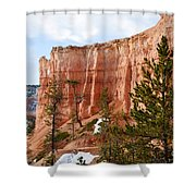 Bryce Curved Formation Wall Shower Curtain