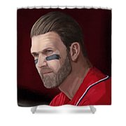 Bryce Harper Shower Curtain