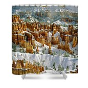 Bryce Winter Morning Shower Curtain