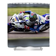 Bsb Superbike Rider John Hopkins Shower Curtain
