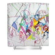 bSeter Elyon 15 Shower Curtain