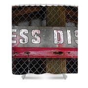 B District Shower Curtain by David Lee Thompson