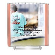 Bubbas Seafood House - Crabs Shower Curtain