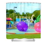 Bubble Ball 4   Shower Curtain