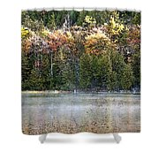 Bubble Pond Acadia National Park Shower Curtain