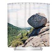 Bubble Rock Acadia National Park Maine Shower Curtain