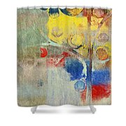 Bubble Tree - 43ff04 Right Shower Curtain