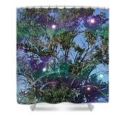 Bubble Tree Shower Curtain