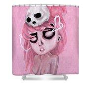 Bubblegum Pink Shower Curtain