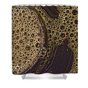 Bubbles And Metal Abstract Shower Curtain
