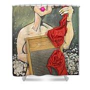 Bubbles Aka Washboard Abs Shower Curtain