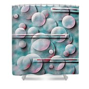 Bubbles And Stripes Shower Curtain