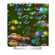 Bubbles Bubbles And More Bubbles Shower Curtain