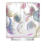 Bubbles Bubbles Shower Curtain