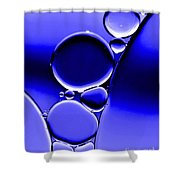 Bubbles In Blue Shower Curtain