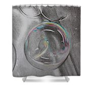 Bubbles In The Sink Shower Curtain