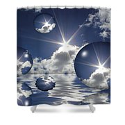 Bubbles In The Sun Shower Curtain