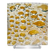 Bubbles Of Steam Amber Shower Curtain