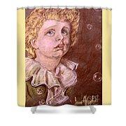 Bubbles Pastel Portrait Shower Curtain