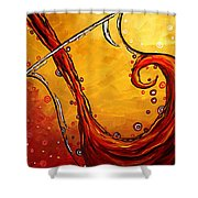 Bubbling Joy Original Madart Painting Shower Curtain