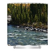 Bubbling River Shower Curtain