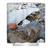 Bubbling Rock Shower Curtain