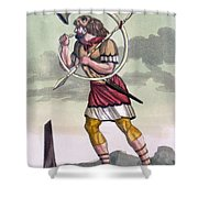 Buccinatore, Military Horn-blower Shower Curtain