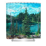Buck Lake Shower Curtain