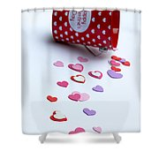 Bucket Of Hearts Shower Curtain