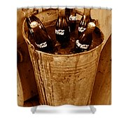 Bucket Of Iced Cold Coca Cola Shower Curtain