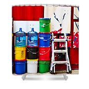 Buckets Of Color Shower Curtain