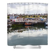 Buckie Harbour Shower Curtain