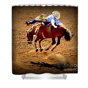 Bucking Broncos Rodeo Time Shower Curtain