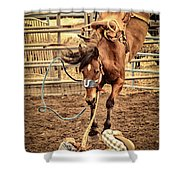 Bucking Shower Curtain by Caitlyn  Grasso