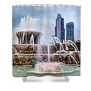 Buckingham Fountain #1 Shower Curtain