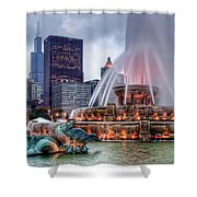 Buckingham Fountain - 2 Shower Curtain