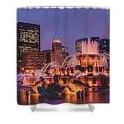 Buckingham Fountain #3 Shower Curtain