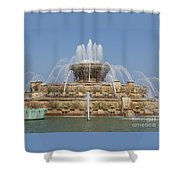 Buckingham Fountain - Chicago Shower Curtain