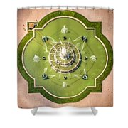 Buckingham Fountain From Above Shower Curtain