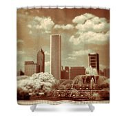 Buckingham Fountain In Chicago Shower Curtain