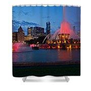 Buckingham Fountain Light Show Shower Curtain