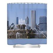 Buckingham Fountain Revisited Shower Curtain